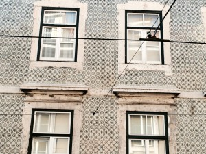 Azulejos building in Lisbon
