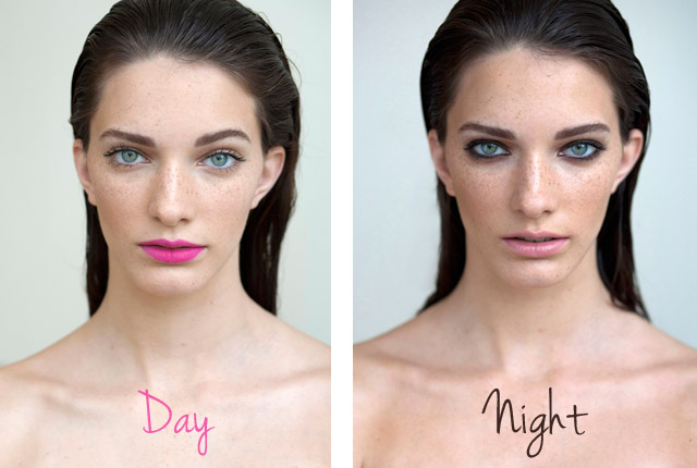 day to night makeup with smokey eye