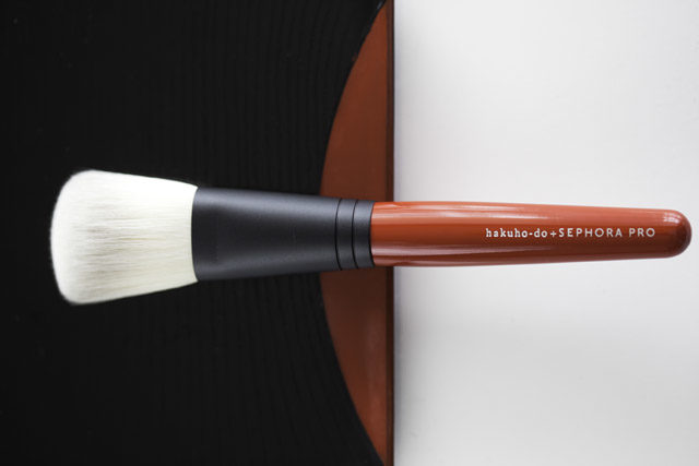 Hokuha-do + Sephora Pro brush collaboration makeup brush with red handle